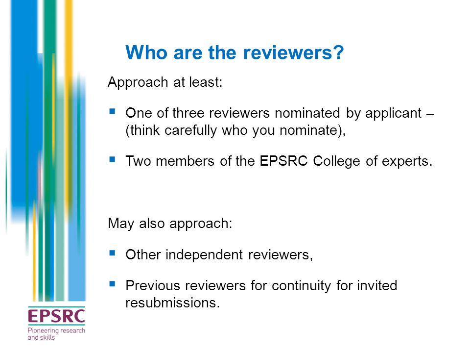Who are the reviewers Approach at least: