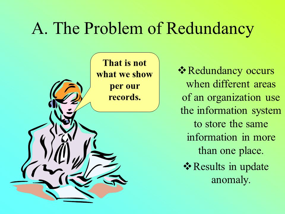 A. The Problem of Redundancy