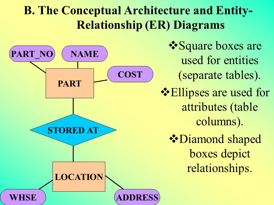 B. The Conceptual Architecture and Entity-Relationship (ER) Diagrams
