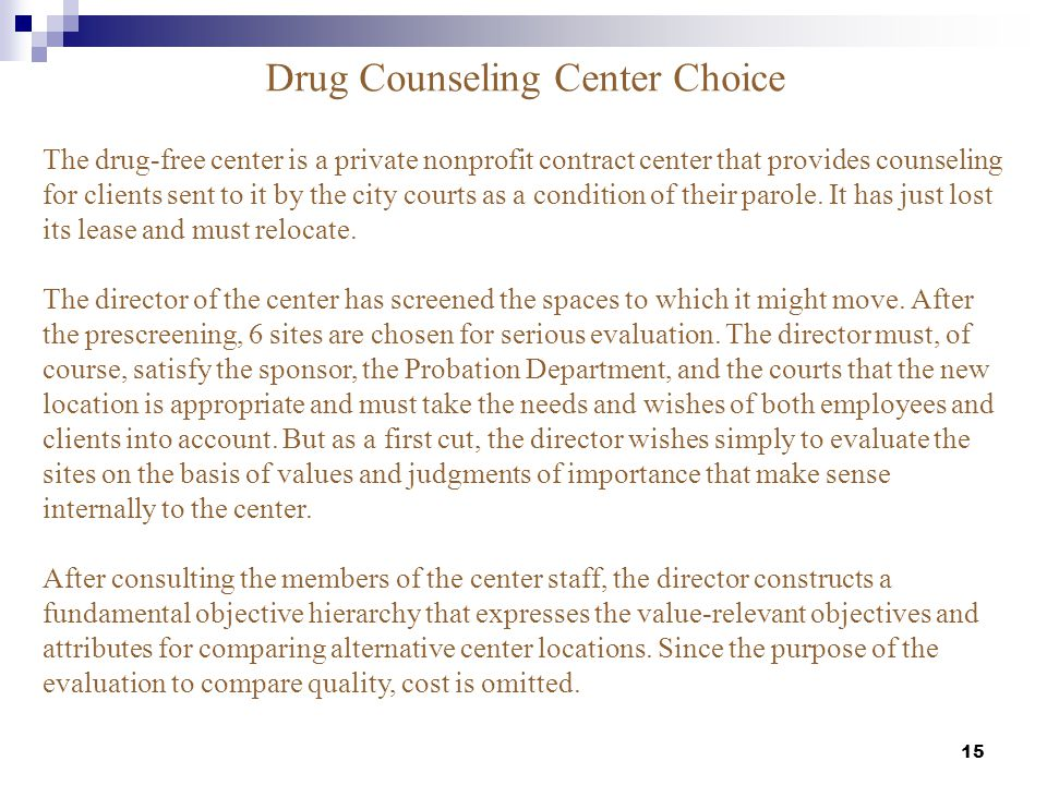 Drug Counseling Center Choice