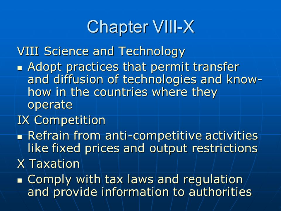 Chapter VIII-X VIII Science and Technology