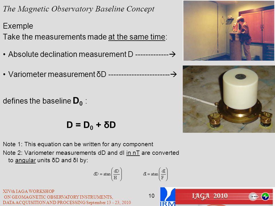 The Magnetic Observatory Baseline Concept