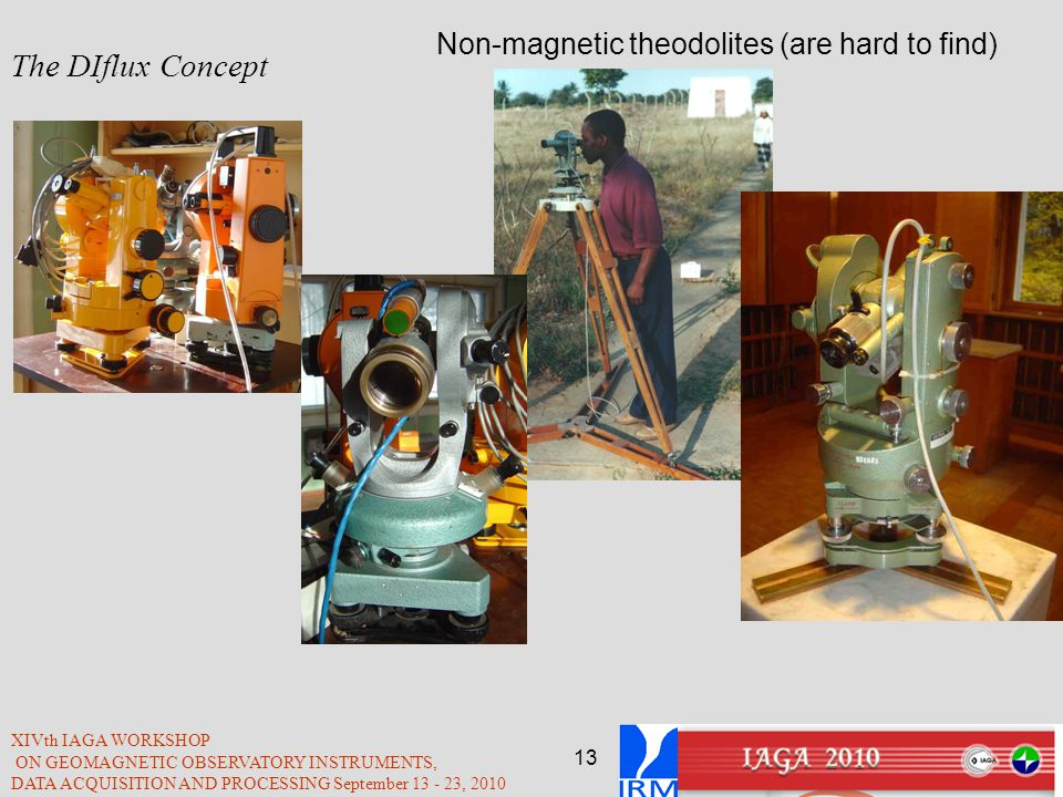 The DIflux Concept Non-magnetic theodolites (are hard to find)