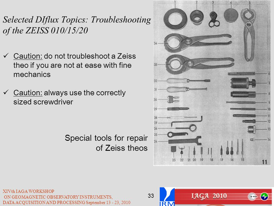 Selected DIflux Topics: Troubleshooting of the ZEISS 010/15/20