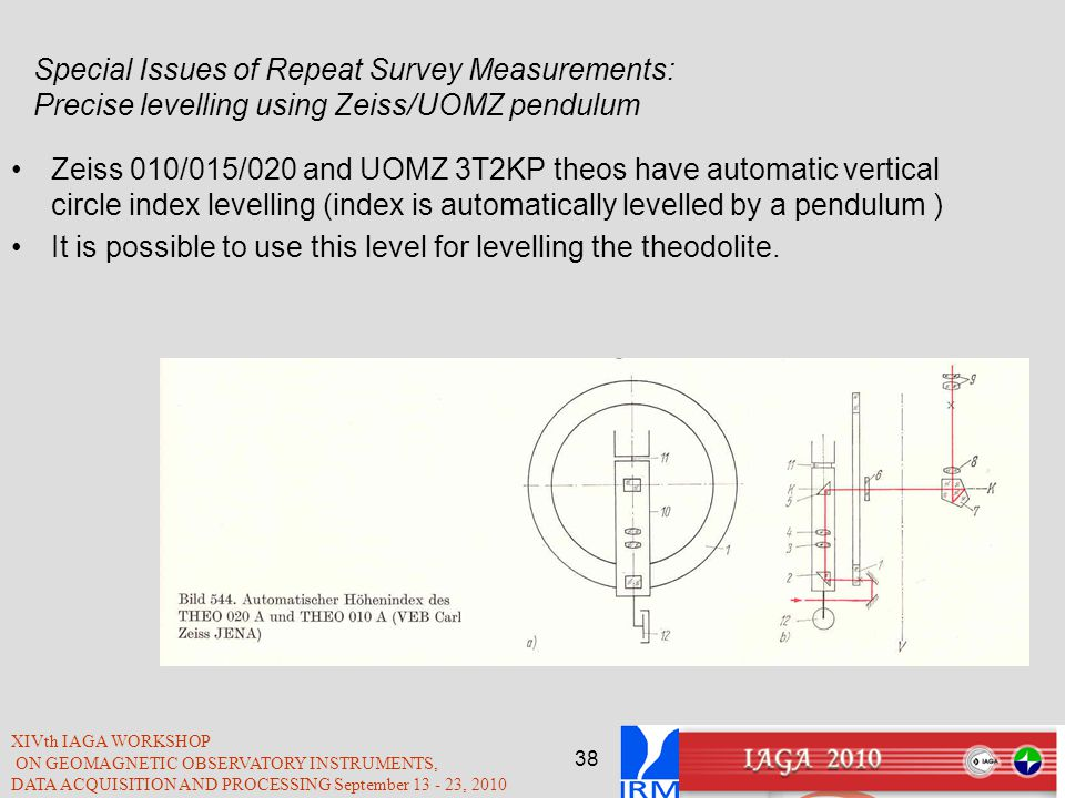 It is possible to use this level for levelling the theodolite.