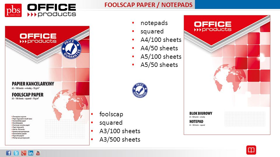 FOOLSCAP PAPER / NOTEPADS