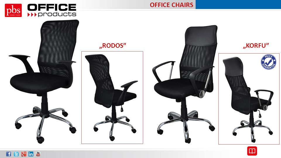 "OFFICE CHAIRS ""RODOS ""KORFU"
