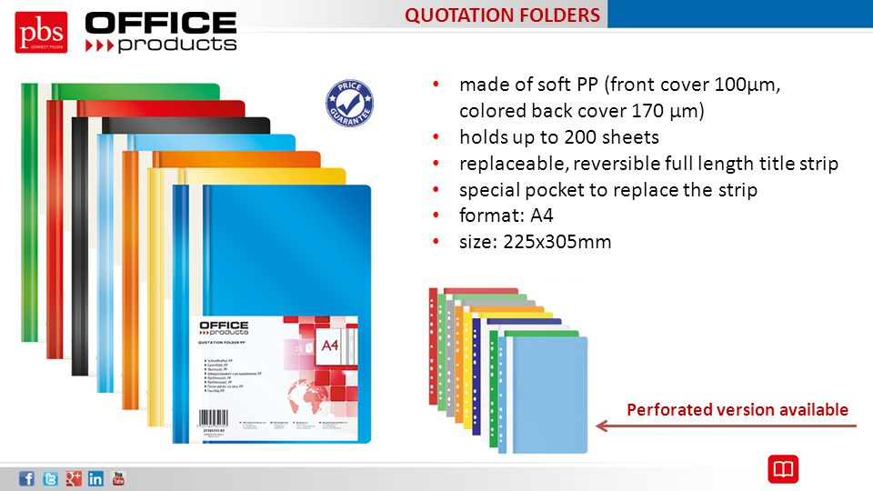 made of soft PP (front cover 100µm, colored back cover 170 µm)