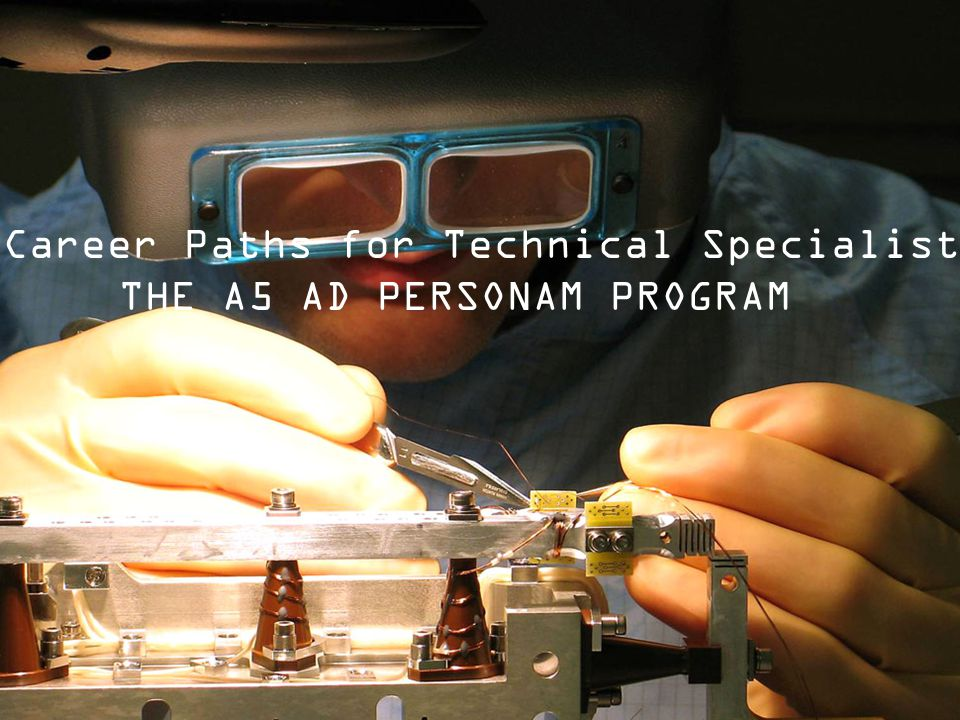 New Career Paths for Technical Specialists: THE A5 AD PERSONAM PROGRAM