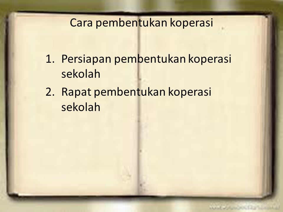 Cara pembentukan koperasi