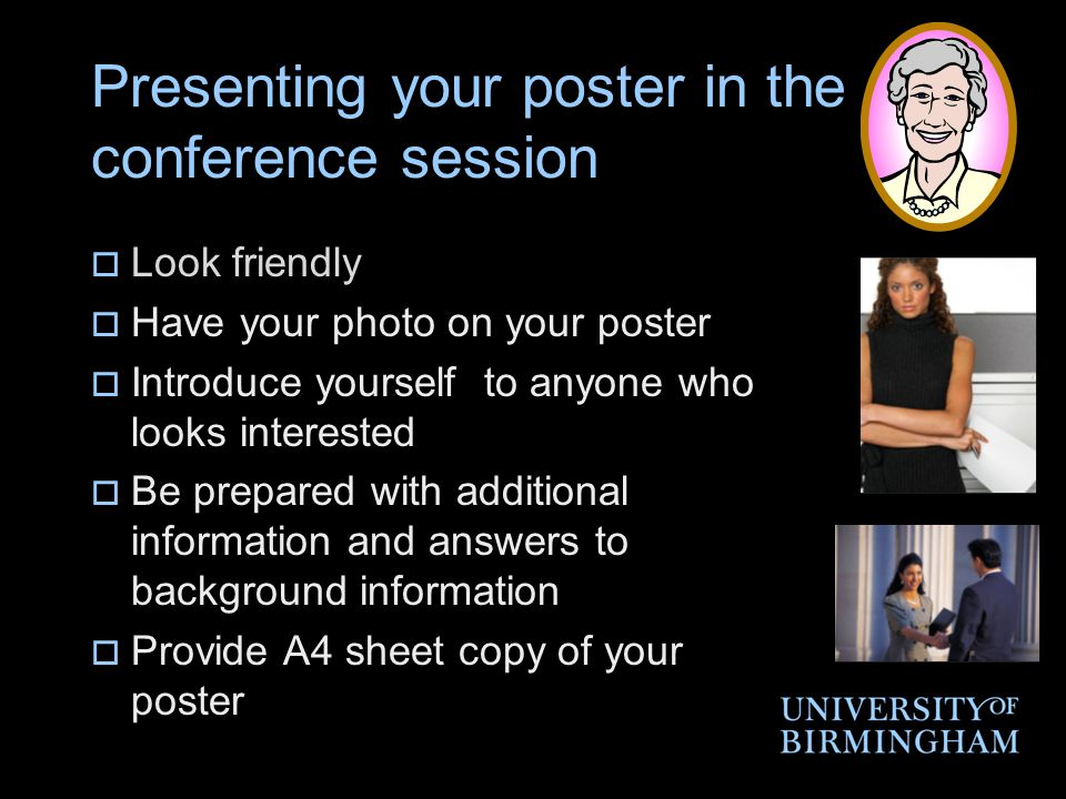 Presenting your poster in the conference session