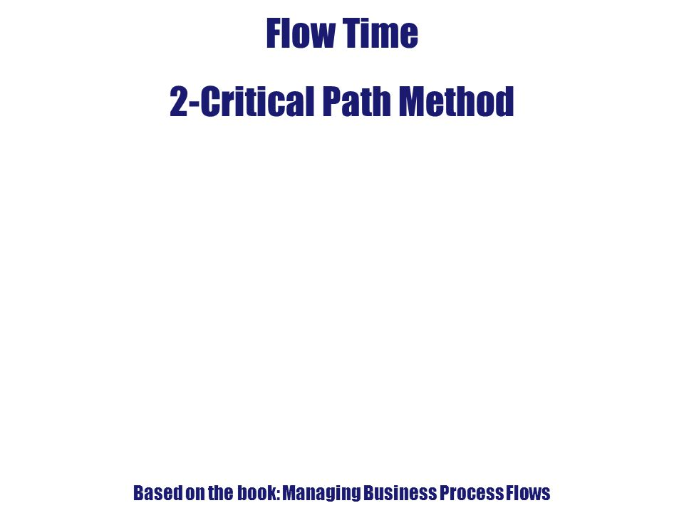 Based on the book: Managing Business Process Flows