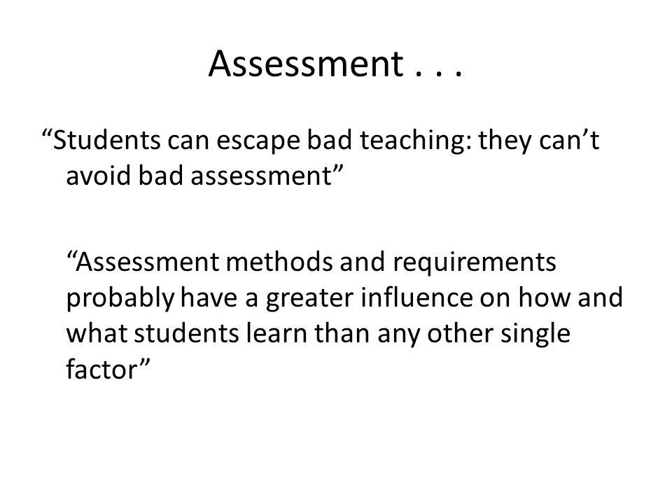 Assessment . . .