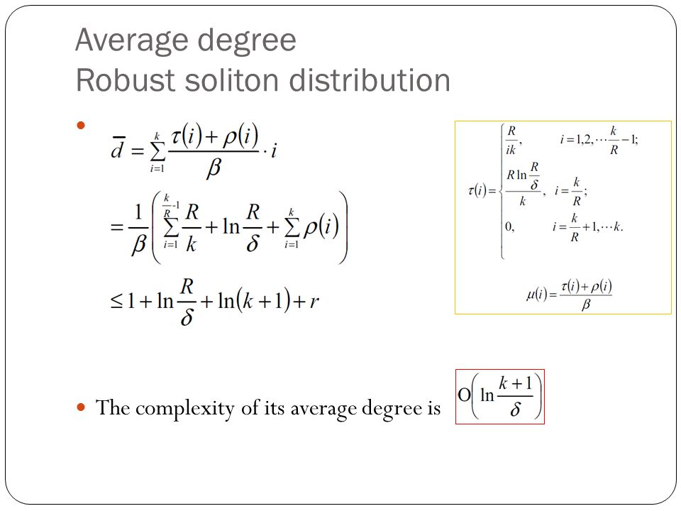 Average degree Robust soliton distribution