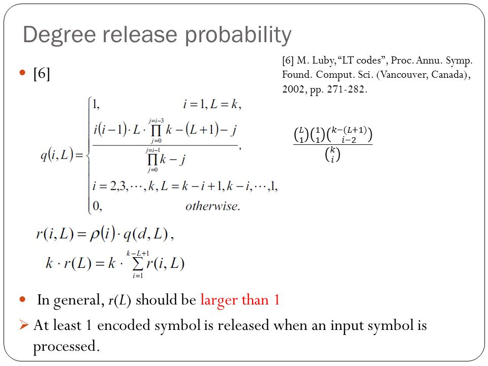 Degree release probability