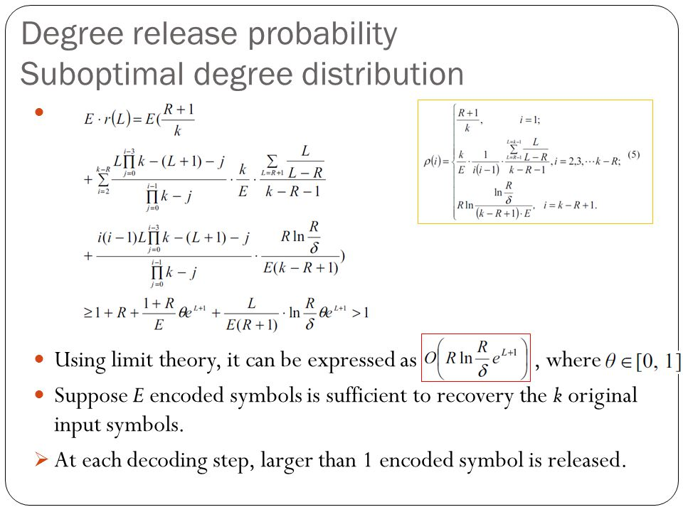 Degree release probability Suboptimal degree distribution