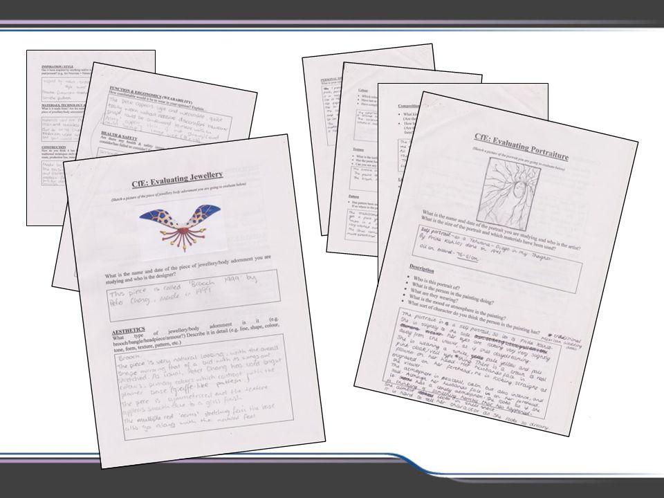 Centre derived worksheets were varied