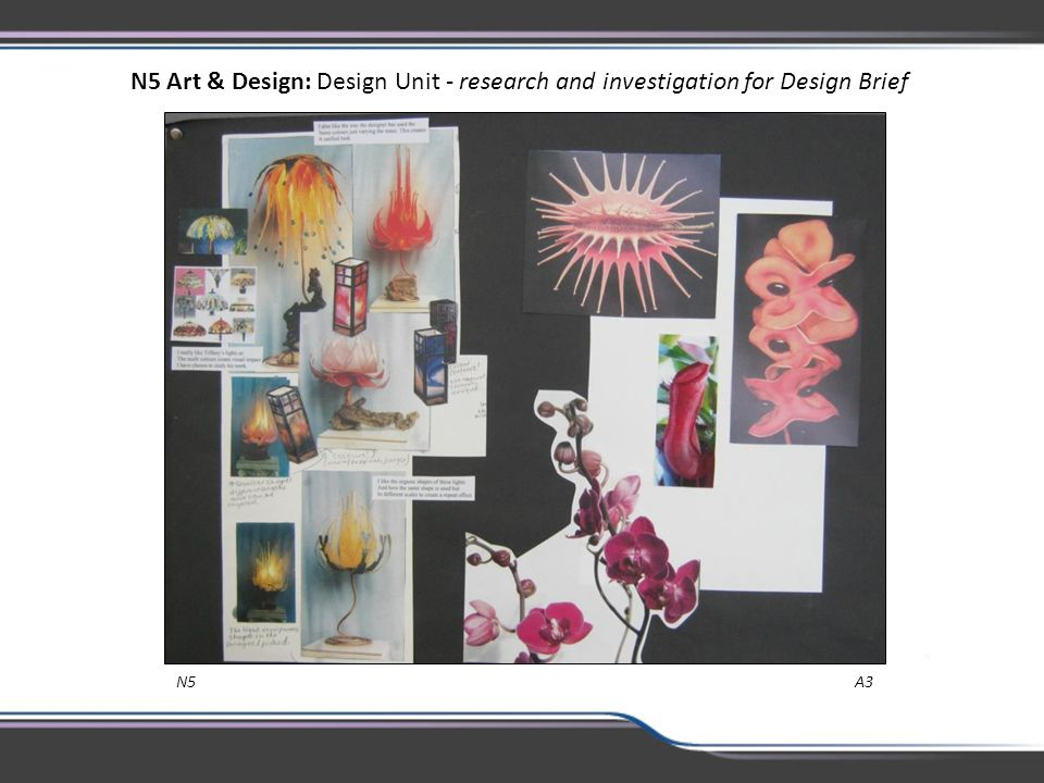 N5 Art & Design: Design Unit - research and investigation for Design Brief