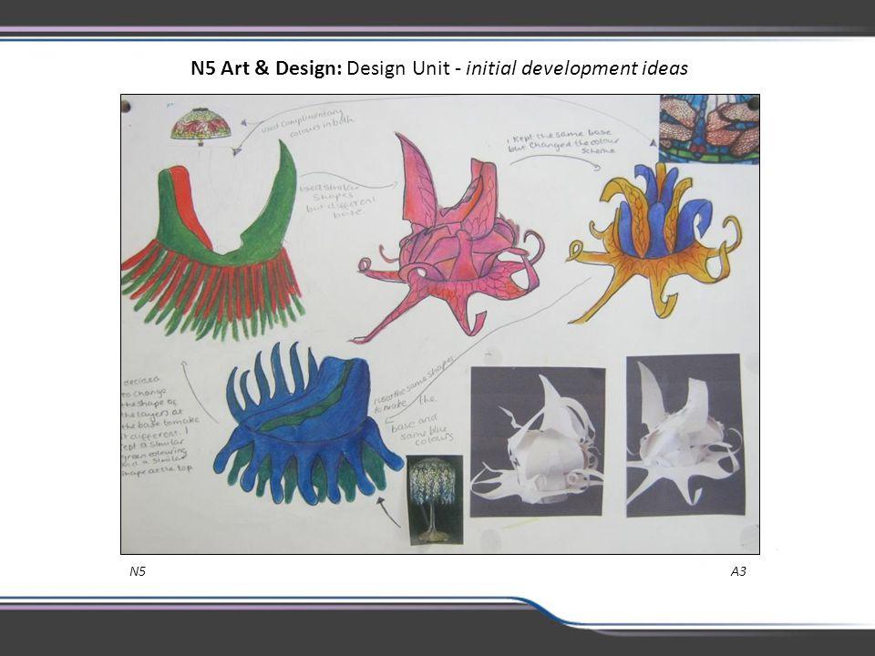 N5 Art & Design: Design Unit - initial development ideas