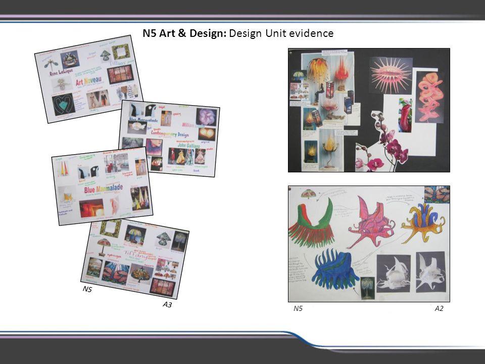 N5 Art & Design: Design Unit evidence