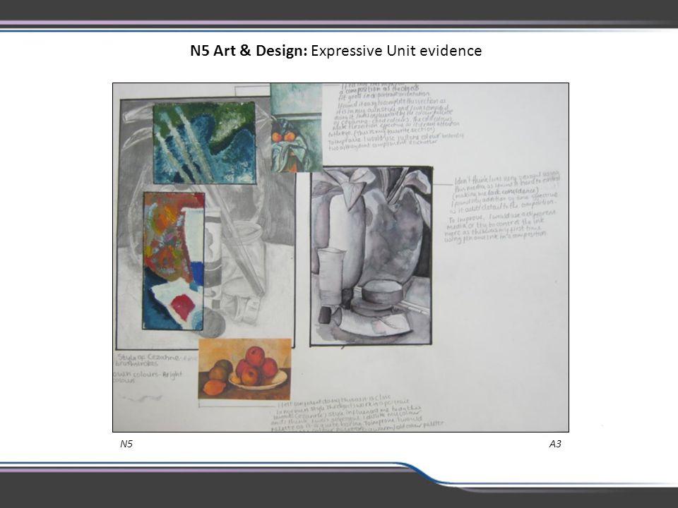 N5 Art & Design: Expressive Unit evidence