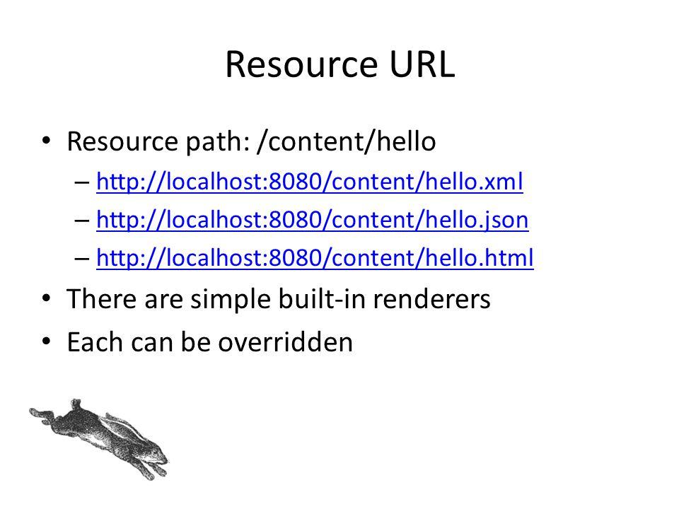 Resource URL Resource path: /content/hello