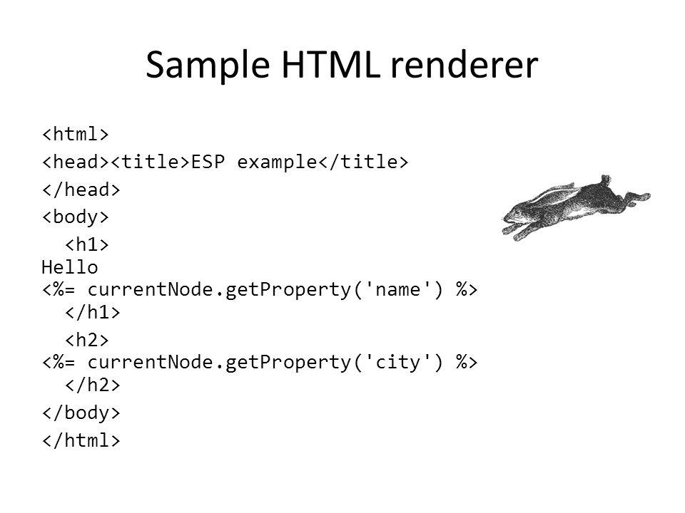Sample HTML renderer