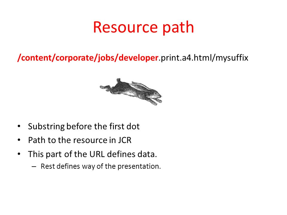 Resource path /content/corporate/jobs/developer.print.a4.html/mysuffix