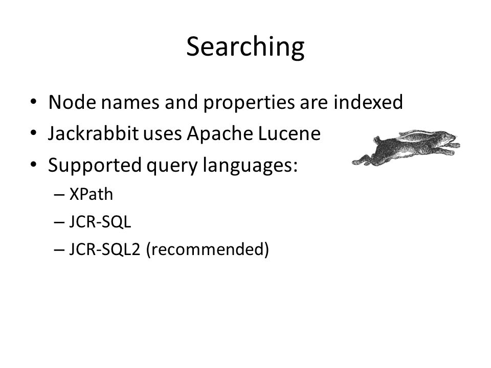 Searching Node names and properties are indexed