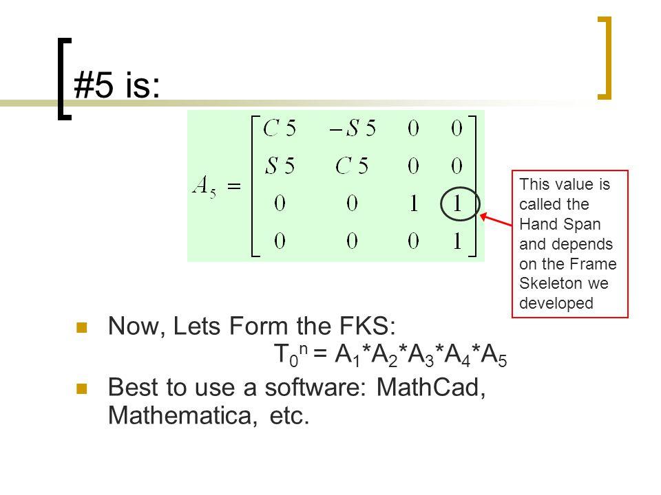 #5 is: Now, Lets Form the FKS: T0n = A1*A2*A3*A4*A5