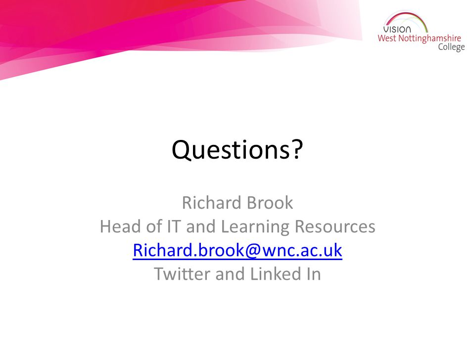 Head of IT and Learning Resources