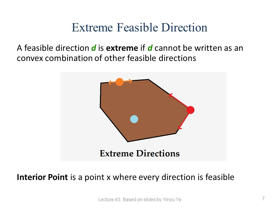 Extreme Feasible Direction
