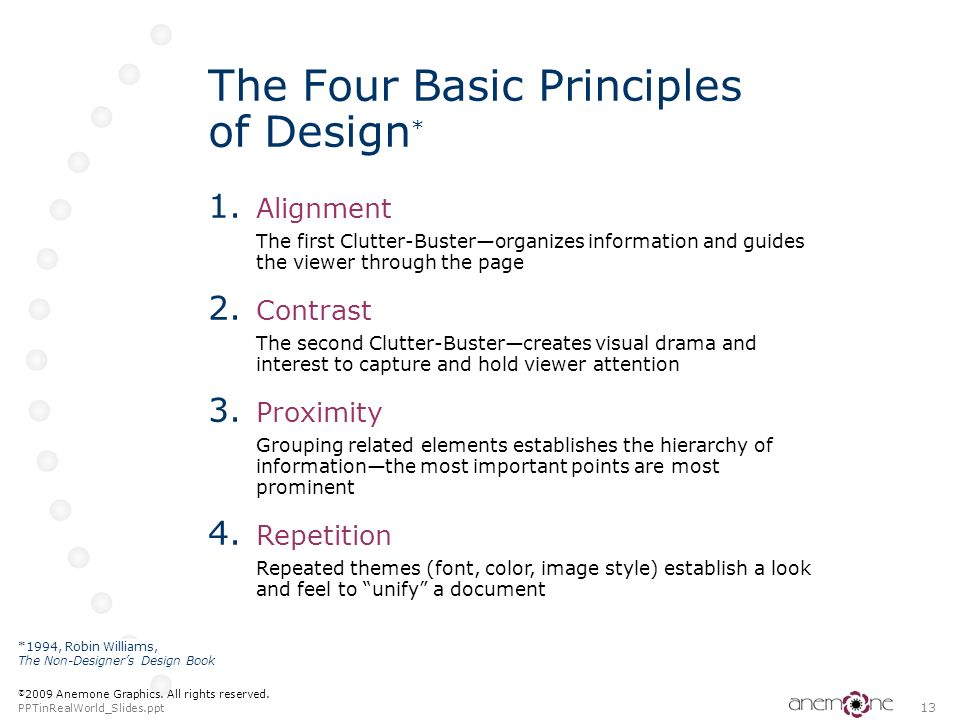 The Four Basic Principles of Design*