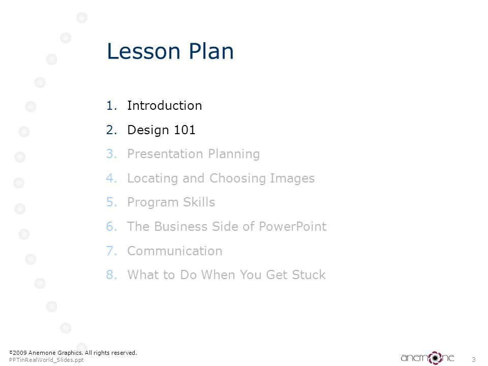 Lesson Plan Introduction Design 101 Presentation Planning