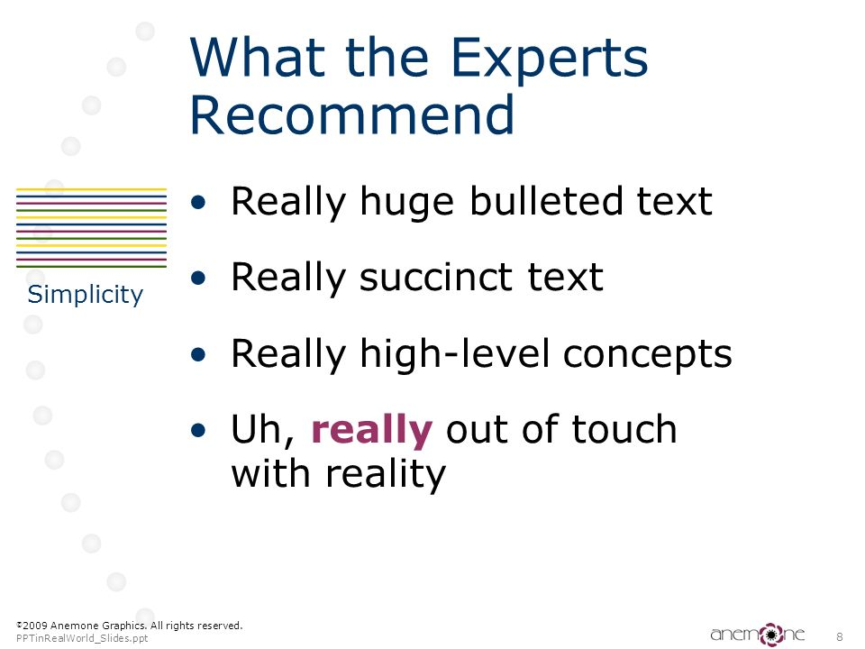 What the Experts Recommend
