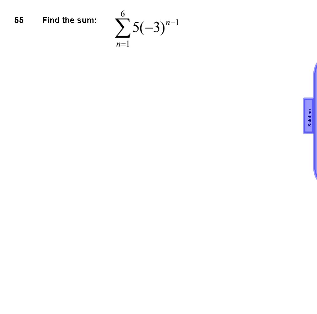 55 Find the sum: Solution