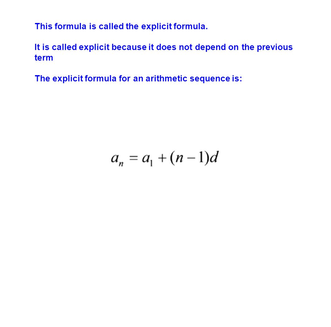 This formula is called the explicit formula.