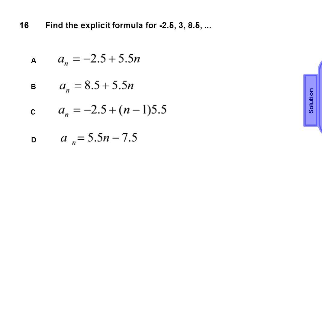 Find the explicit formula for -2.5, 3, 8.5, ...