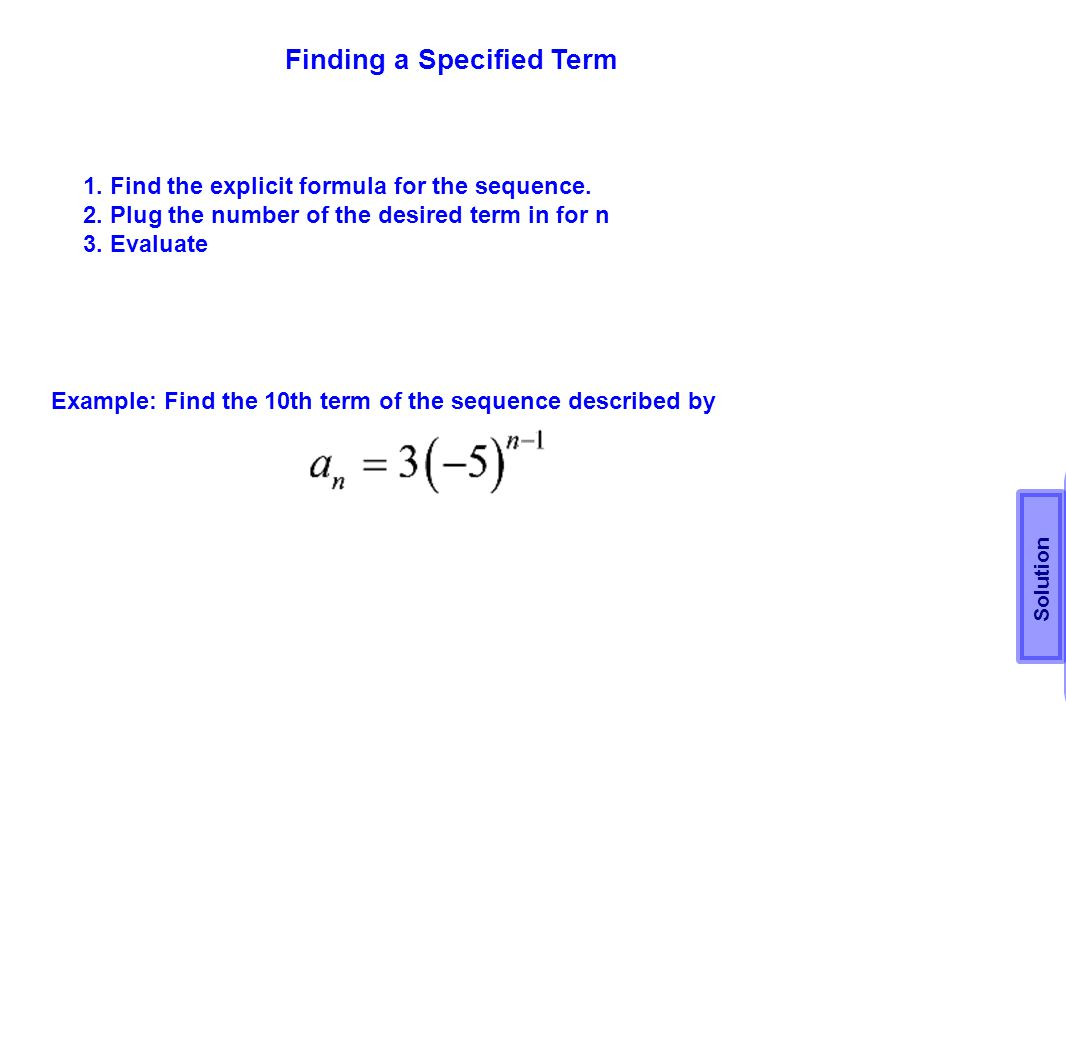 Finding a Specified Term