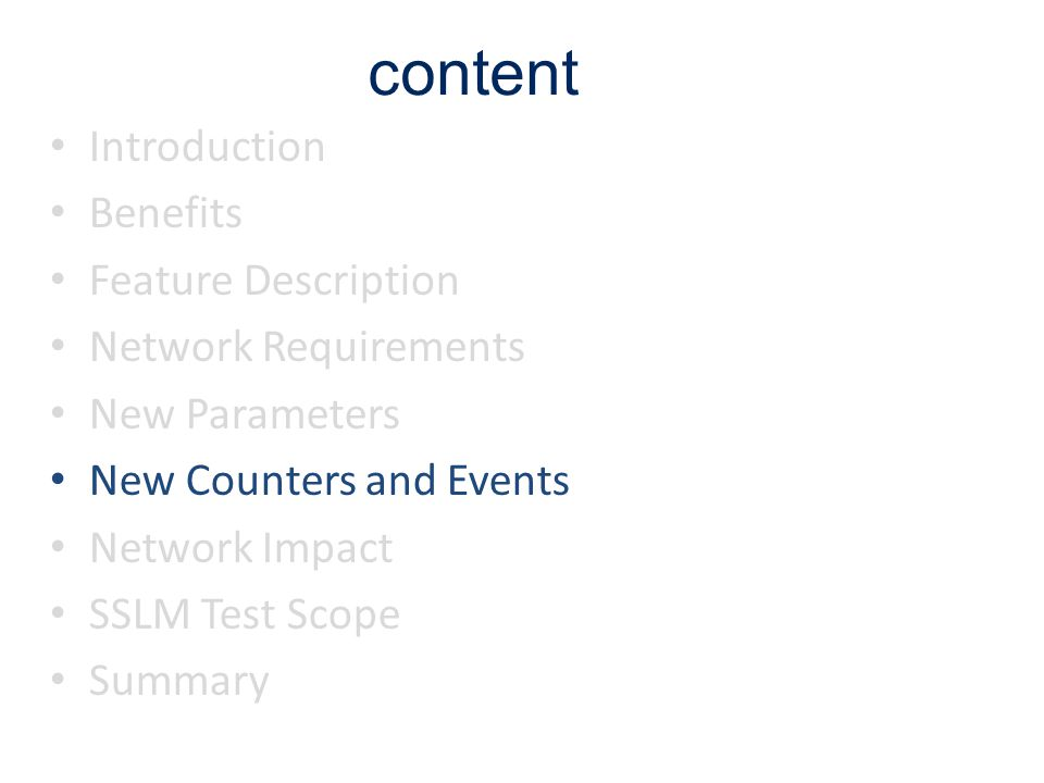 content Introduction Benefits Feature Description Network Requirements
