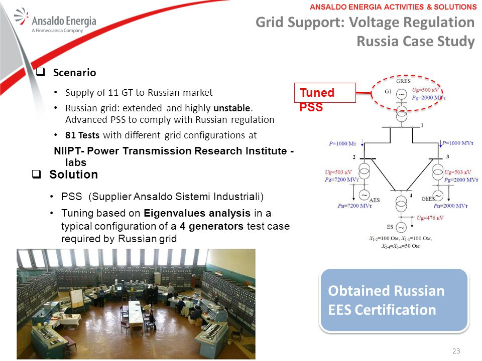 Grid Support: Voltage Regulation Russia Case Study