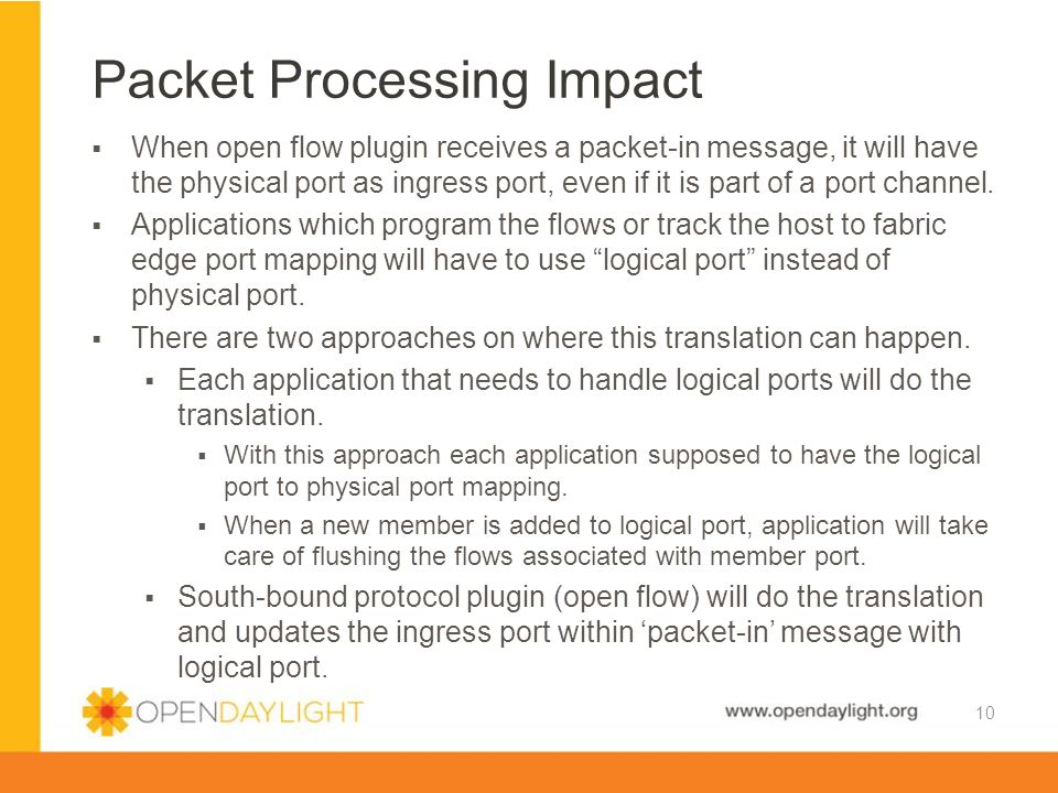 Packet Processing Impact