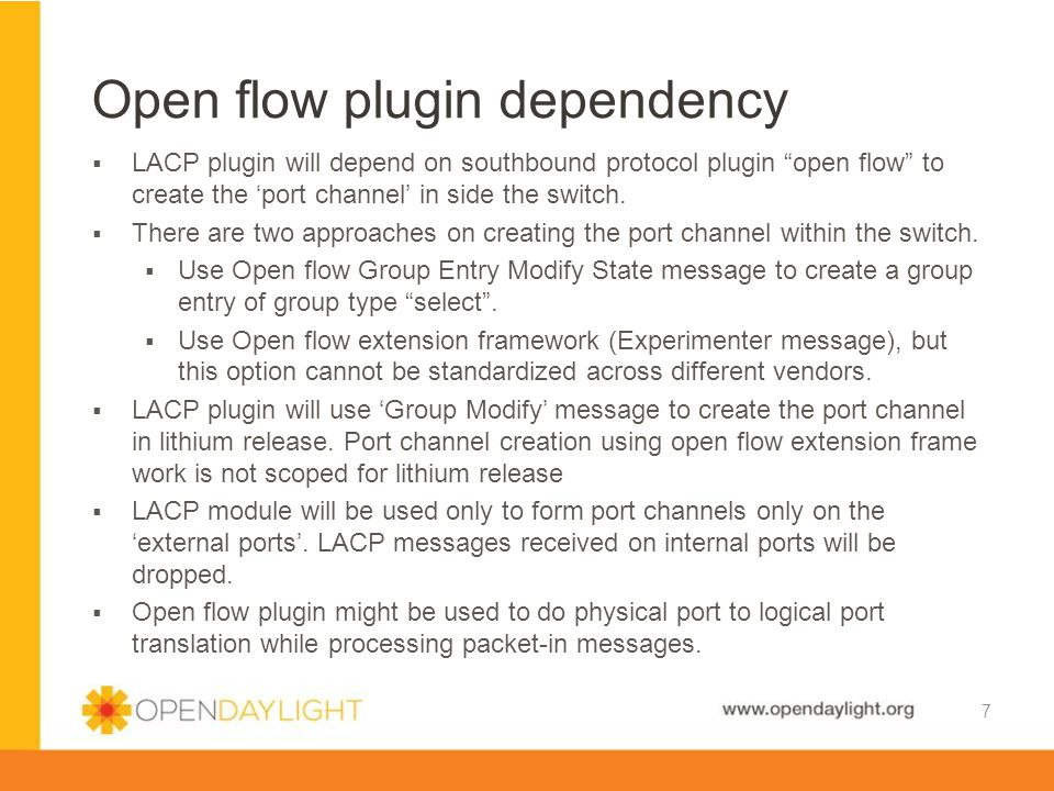 Open flow plugin dependency