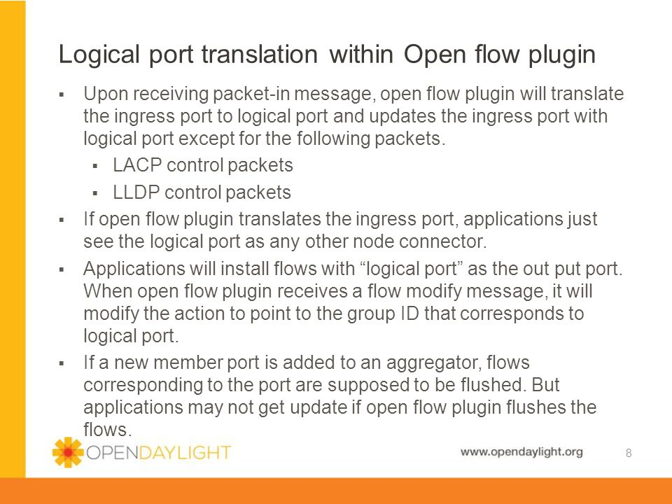 Logical port translation within Open flow plugin