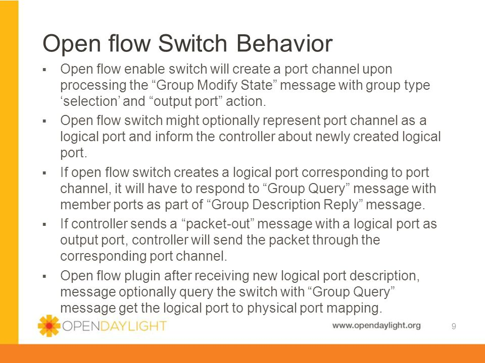 Open flow Switch Behavior