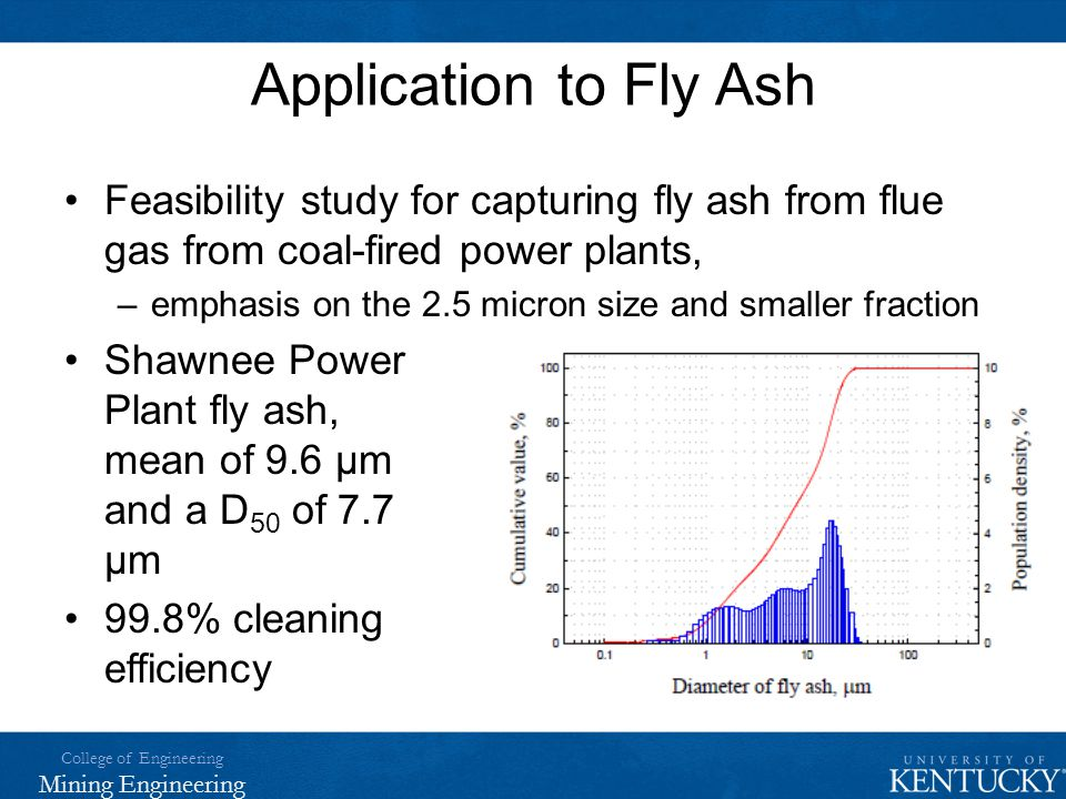 Application to Fly Ash Feasibility study for capturing fly ash from flue gas from coal-fired power plants,