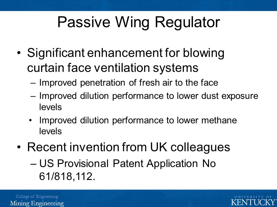 Passive Wing Regulator