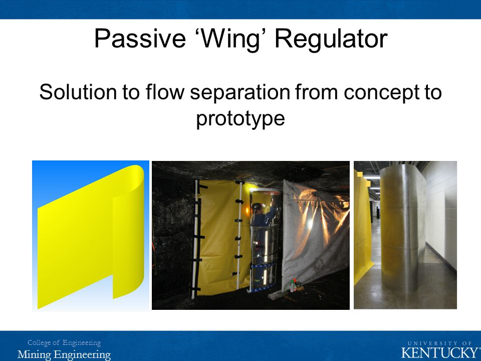 Passive 'Wing' Regulator