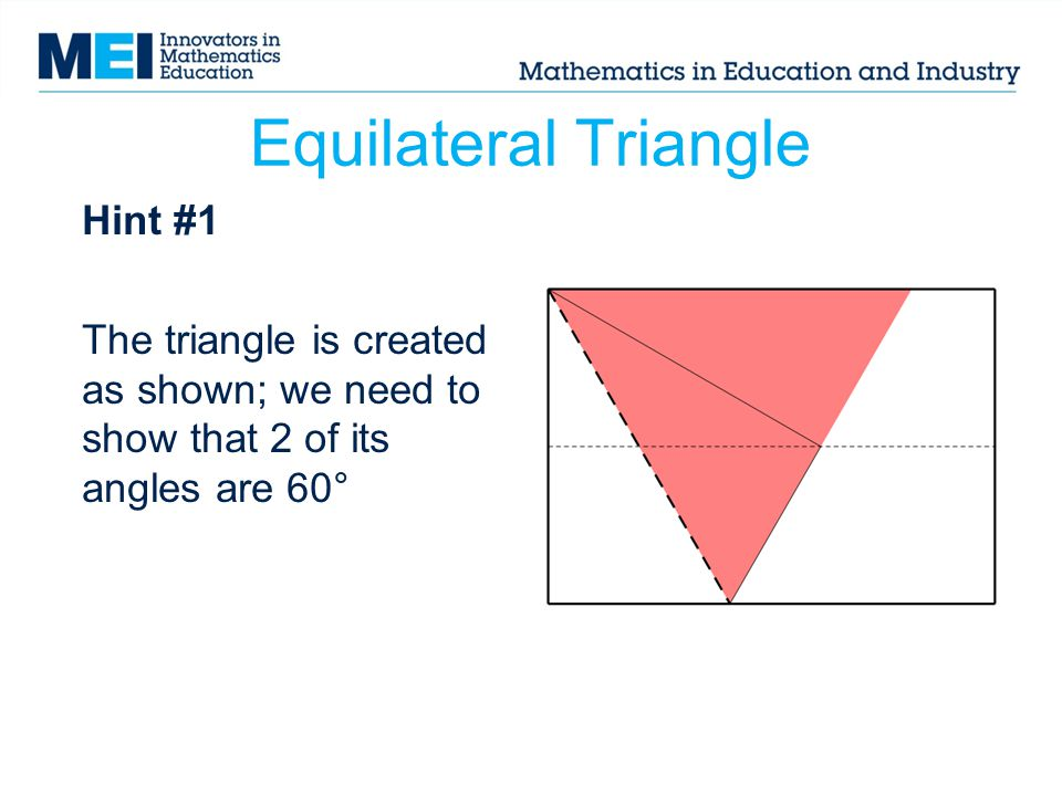 Equilateral Triangle Hint #1