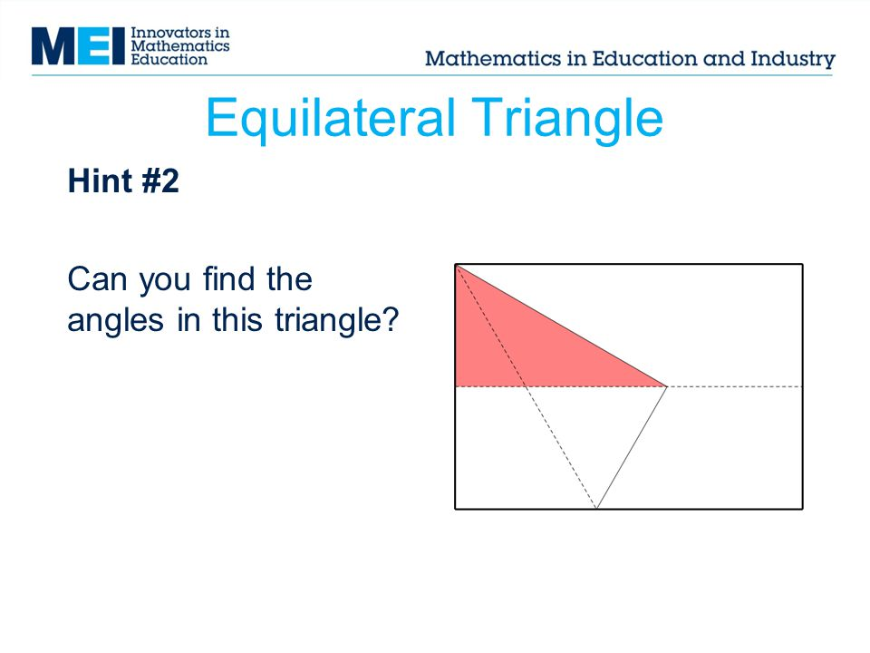 Hint #2 Can you find the angles in this triangle